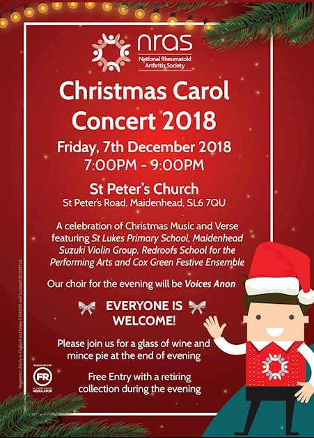 Join us on 7th December for our Annual Christmas Carol Concert!