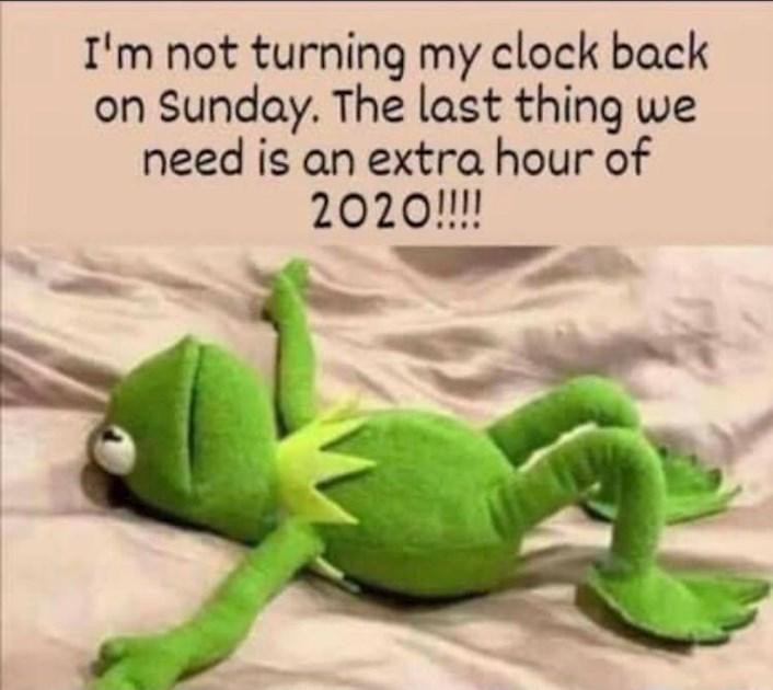 The clocks go back tonight