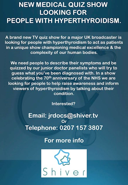 BBC Medical Quiz Show : BBC Two is screening a    - Thyroid UK